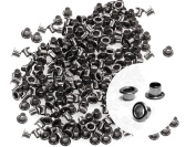 CRAFTMEmore 3MM Hole 200PCS Tiny Grommets Eyelets Self Backing for Bead Cores, Clothes, Leather, Canvas