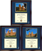 UCLA Diploma Frame with photo and wood frame