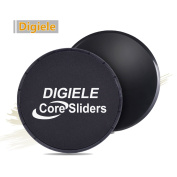 DigiELE Gliding Discs 2 Dual Sided Core Exercise Sliders, Sliding Discs for Use on Carpet & Hardwood Floors, Exercises for Full Body Workout, CrossFit, & Cross Training, Gym and Home Fitness Equipment
