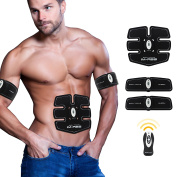 Abdominal Muscle Trainer Ab Toning Belt, Muscle Toner Ab Belts Core Training Gear Abs Exercise Machine Waist Trainer, Belly Support Belt Home Gym Equipment Fitness Machine White