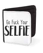 Go Fuck Your Selfie Yourself Make Up Statement Men's Wallet Card Holder Gift