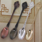 HENGRUI Creative Small Spoon Series of Egyptian Pharaoh Retro Spoon,a Set of 12-pieces