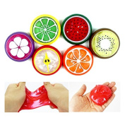 Fresh Fruits Jelly Monster Toy Soft Squeeze Squishy Jelly Pudding Toy Set of 6