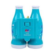 1 PC Children Kids Coke Bottle Style Binoculars Focusable Telescopes Mini Toy for Bird Watching Hiking Educational Science Kits Travel 6X25 Blue