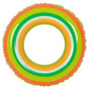 90cm Green and Orange Stripe Inflatable Swimming Pool Inner Tube Ring Float