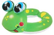 60cm Green and Yellow Frog Children's Inflatable Swimming Pool Split Ring Inner Tube