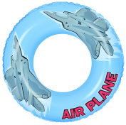 80cm Blue and Grey Aeroplane Inflatable Swimming Pool Inner Tube Ring Float
