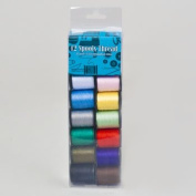 SEWING THREAD 12 PK 25YD EACH POLY SPOOL ASST colours SEWING, Case Pack of 24