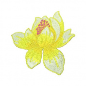 5PCS Lotus Flower Embroidery Patches Skirt Dress Iron on Patch Applique