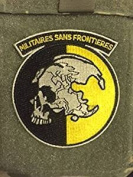 METAL GEAR SOLID PATCH MGS PEACE WALKER MILITAIRES SANS FRONTIERES PATCH HOOK FASTENER
