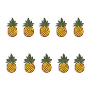 Yalulu 10PCs Pineapple Cactus Embroidered Repair Patches Iron On Sew-on Cloth Paste DIY Applique Craft Kids Clothing Hat Bag Decor