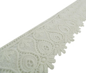Floral Cutwork Pattern Craft Trim Sewing Lace Supply 6.8 cm Wide By The Yard