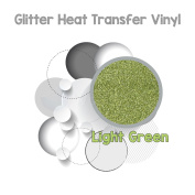 GLITTER Heat Transfer Vinyl (HTV) WORLD PAPER LIGHT GREEN 50cm x 0.3m