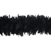 Black Turkey Feather Boas, 15cm - 20cm dia, 2 yards, TFP-5TBEC