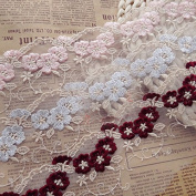 3 Yards IRIZ Classic Floral Embroidery Lace Trim with 8cm Width