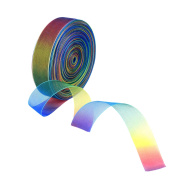 Shappy 50 Yard 2.5cm Shimmer Sheer Organza Ribbon, Rainbow Colours