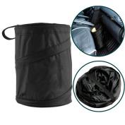 TIANOR Pop Up Trash Car Bin for Storage or Rubbish Collection - Universal Car Foldabe Storage Bag Holder Organiser Rubbish Bin Trash Garbage Accessories Car Garbage Trash Bag Back seat Organiser