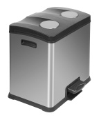 EKO Recycle Rejoice Step Bin, Matt Stainless Steel