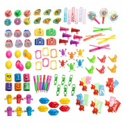 Party Favour Toy Assortment Pack of 101 Pc, Mid-size and Small Toys, Easter Egg Fillers, Party Favours, Pinata Filler, Small Prizes, for Party Favour Bags, School Classrooms, and Carnivals,