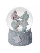 Baby Gift - Elephant Music Box Snow Globe ideal Baby Shower Christening or Birthday Present