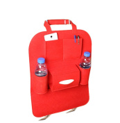 Cdet Car Storage Bag Multifunctional Car Accessory Carriage Holder Car Tidy Red