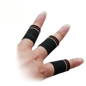 Odowalker Finger Sleeve Support Protector Sports Finger Grip Aids for Basketball, Volleyball, Baseball, Badminton - Set of 10pcs