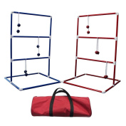 CRESTGOLF Ladder Toss Game Set,Includes 6 Pairs of Golf Balls and 2 Target Shelves and An Ultra Durable Carrying Bag