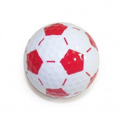 Nitro Novelty Golf Balls Nitro Novelty Golf - Soccer Balls, 3 Pack Tube, White/Red