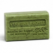 French Soap, Traditional Savon de Marseille - Crushed Verbena (Verveine Broyee) 125g