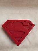 Superman logo shaped MIDI soaps x1 SLS and fragrance free approx H 10 x W 8 x D 2.5 CM