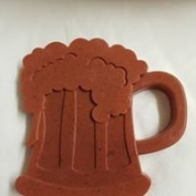 Beer tankard shaped MIDI soaps x1 SLS and fragrance free approx H 10 x W 10 x D 1.5 cm