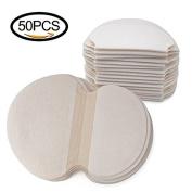 Mobengo 50 pcs (25 Pair) Disposable Underarm Pads Armpit Sweat Pads Perspiration Pads Shield Absorbing Anti Perspiration Odour Sheet for Women