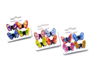 La Peach Fashions Gorgeous Children Brightly Coloured Fimo Butterfly Mini Clamps Hair Clips Multi Pack