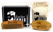 ✮ BARBER TOOLS ✮ Kit / Maintenance and care kit for Beard. Beard comb + Beard brush + Precision scissors + storage bag with premium box. The perfect gift for bearded men