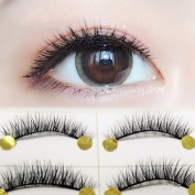 VanMe 5 Pairs Of Natural Dense Short Section Of The Black Stalk Black Stalk Cross The Tip Of The Short Section Of False Eyelashes Eyelashes