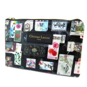"Creative flat case 'Christian Lacroix'black multicoloured (cards)- 22x14.5x1 cm (8.66""x5.71""x0.39"")."