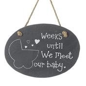 Weeks Until We Meet Our Baby Countdown Slate Chalkboard