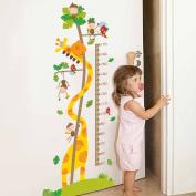 Height Measurement Giraffe Wall Sticker Decal Home Paper PVC Murals House Wallpaper Bedroom Kids Babys Living Room Art Picture Decoration