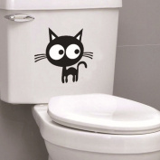 Black Cat Toilet Sticker