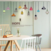 Colourful Chandelier English Letters Wall Sticker Decal Home Paper PVC Murals House Wallpaper Bedroom Kids Babies Living Room Art Picture Decoration