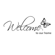 WINOMO Wall Decal Love Wall Art Butterfly Decor Stickers for Door Living Room Decoration
