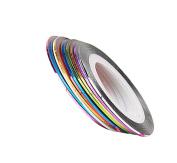 Zerozero 10 Rolls Nail Art Tape Striper Sticker Line Decoration Kit