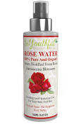 BeYouthful Rose Water Organic & Pure For Face, Body, Hair And Hands. Versatile All-natural Beauty Product Best Used As Cleanser, Toner, Facial Mist, Perfume, Skin Spray, Hair Conditioner. Free Guide With DIY Recipes Included. Premium Quality Steam Dist ..