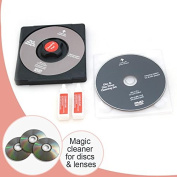 CD/DVD Disc Lens Cleaner/Cleaning Solution Set Fluid Laser Lens For Laptop, Computer, CD Repair Kit Wii Xbox