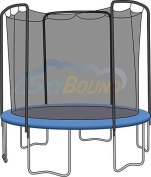 3.7m Universal Trampoline Enclosure Safety Net by JumpKing