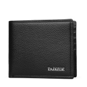 Padieoe Gents Real Soft Leather Bifold Wallet ¨C credit Card Holder ¨C Coin Pocket Purse ¨C Black