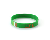 Ireland- World Cup / Olympics Eire Silicone Green Wristband