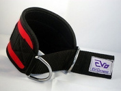 EVO Pulley Cable Attachment Neoprene Ankle Cuff Gym Strap weightlifting D Ring Fitness Bodybuilding
