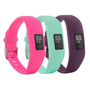 Fit-power Soft Silicone Replacement Band With Watch Clasp For Garmin Vivofit 3 Fitness Band