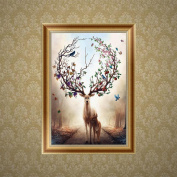 SCASTOE Deers DIY 5D Diamond Embroidery Animal Painting Cross Stitch Craft Home Decor